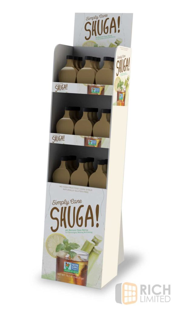 SIMPLY SHUGA corrugated display