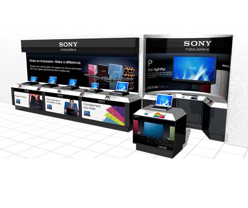 Sony in line store display - New York
