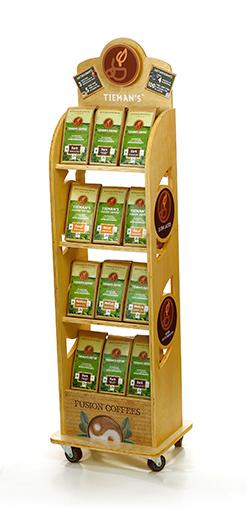 Tiemans Coffee Grocery Store Retail Wood Display
