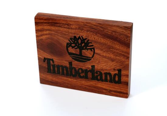 TIMBERLAND Laser engraved logo block