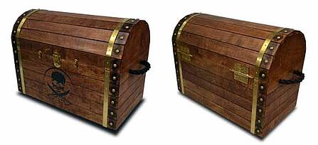 Wood Pirate toy chest for your mates