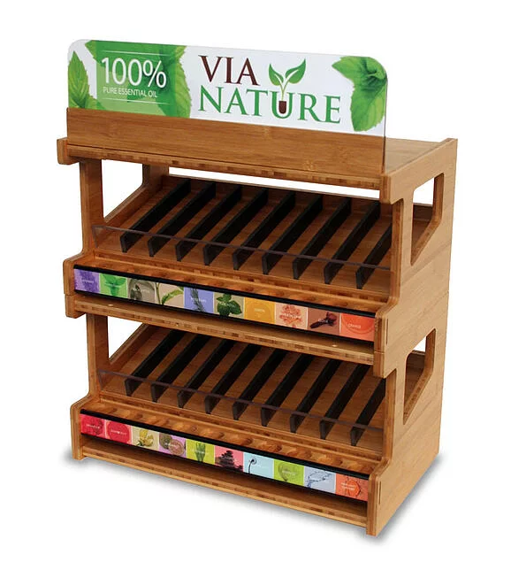 VIA Nature Bamboo eco friendly retail display
