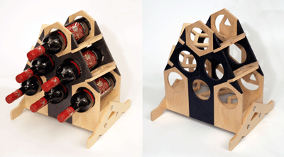 Wine Rack Geometric shapes counter top