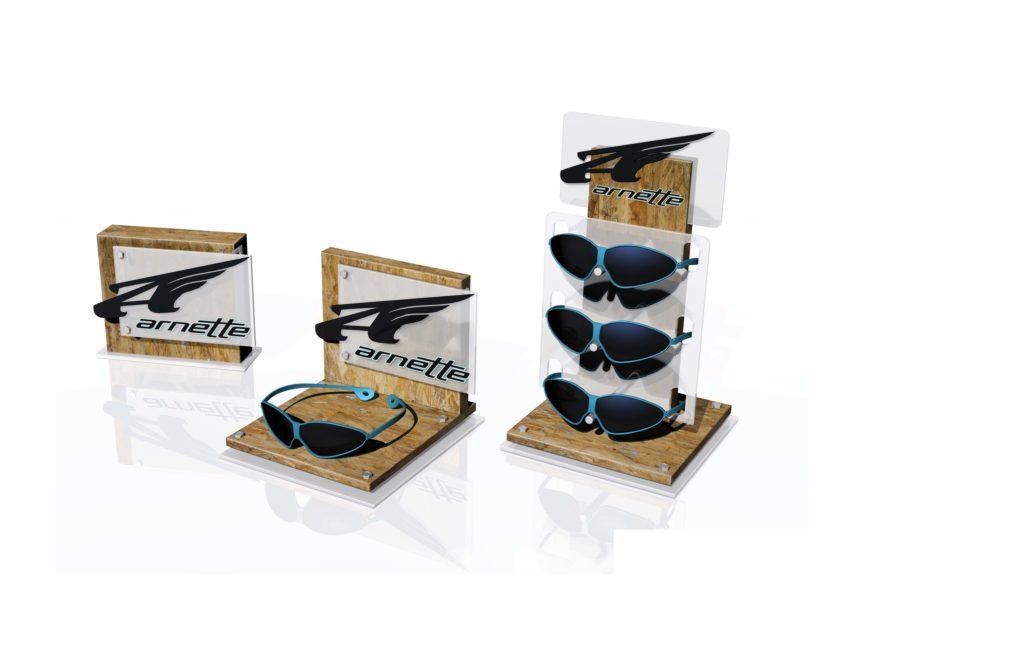 arnette-retail-sunglass-counter-display-wood
