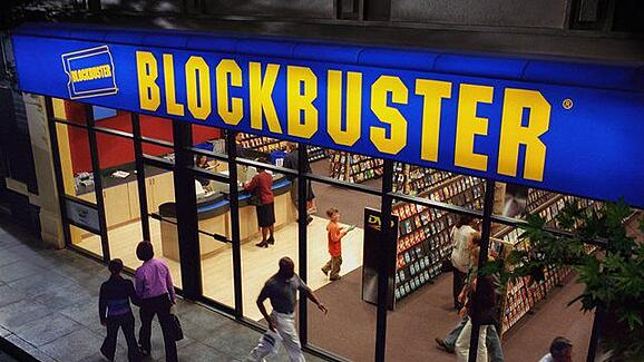 blockbuster store front point of purchase displays