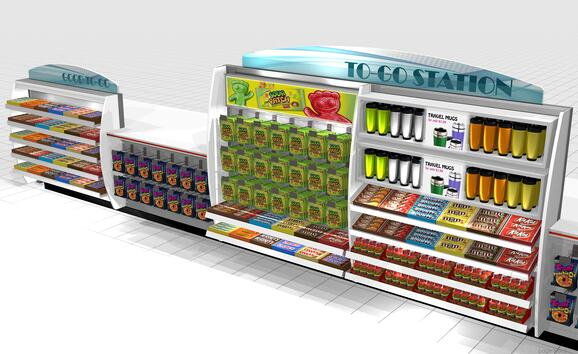 Cashier Stand point of purchase design
