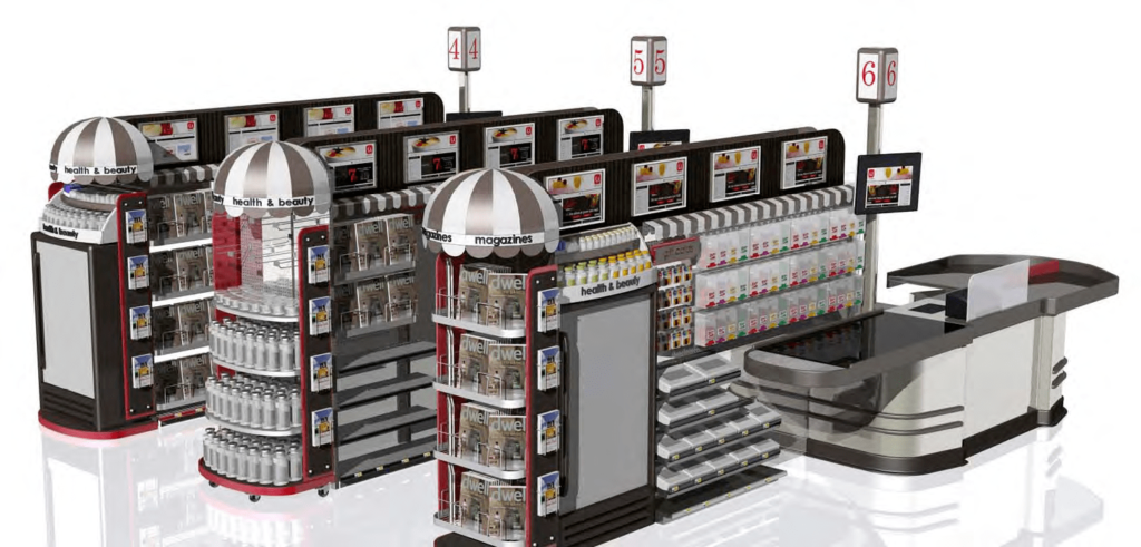 front end merchandiser render POP Retail Display