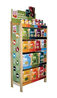 honest-kitchen-natural-dog-food-wood-shelf-retail-display