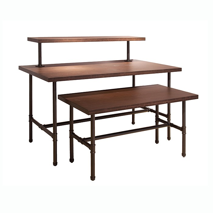 metal pipe nesting table set 470 point of purchase design
