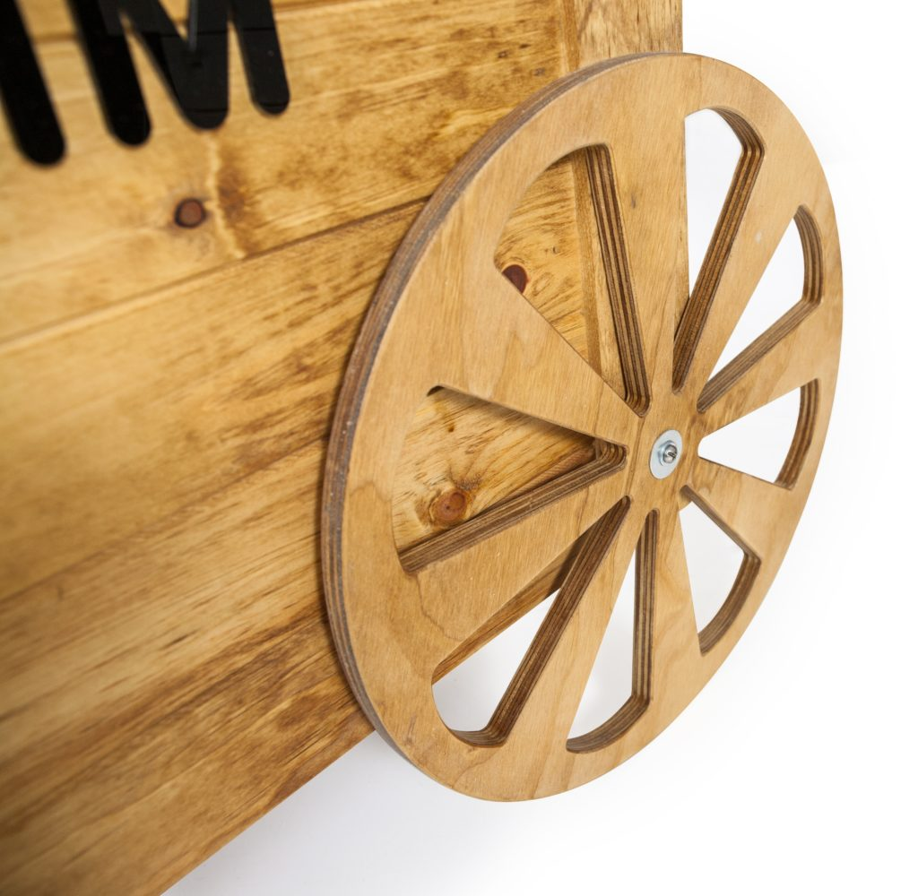 nomcart wheel point of purchase design