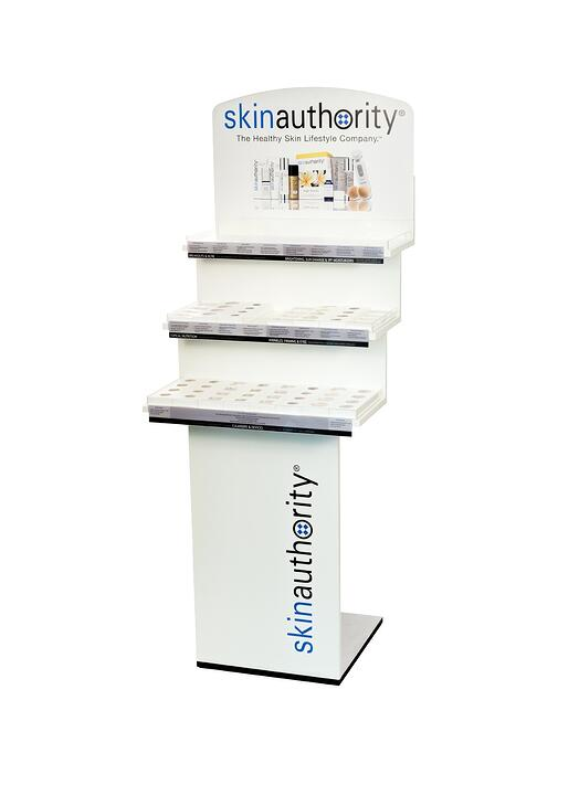 skin Authority point of purchase design