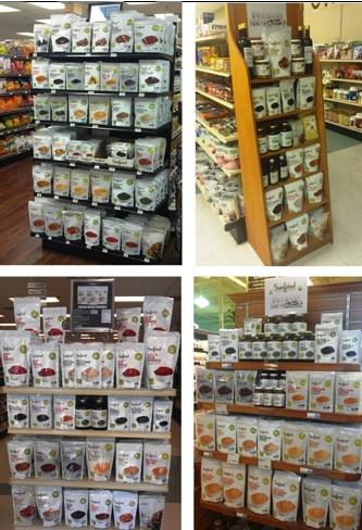 natural food retail displays - sunfoods