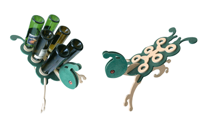 wine rack wood bug